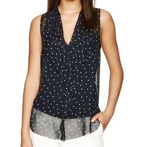 Aritzia Babaton Ainsley silk blouse black medium